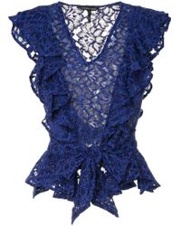 Top semi-transparent en dentelle Marissa Webb en coloris Blue