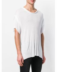 Di Liborio - White Oversized T-shirt for Men - Lyst