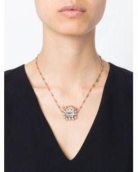 Mawi - Metallic 'diamond Slogan' Necklace - Lyst