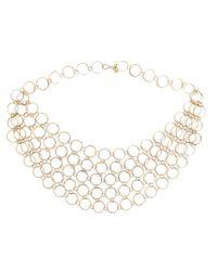 Melissa Joy Manning - Metallic Circle Link Collar Necklace - Lyst