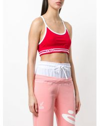Gcds Red Cropped Sports Tank