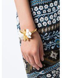 Oscar de la Renta - White Bold Petal Bracelet - Lyst
