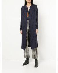 Hysteric Glamour - Blue Jacquard Shirt Dress - Lyst