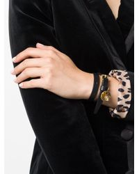 Alexander McQueen - Black Double Wrap Bracelet - Lyst
