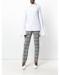 Off-White c/o Virgil Abloh - Black Checked Zipped Cuff Trousers - Lyst