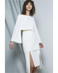 C/meo Collective | White Right Hand Skirt | Lyst