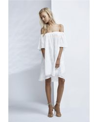 Finders Keepers   White Better Days Ruffle Dress   Lyst