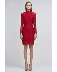 Keepsake - Red Electric Long Sleeve Lace Dress - Lyst