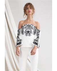 C/meo Collective - White Paradise Top - Lyst