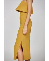 C/meo Collective - Yellow Love Like This Dress - Lyst