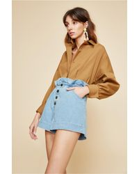 C/meo Collective - Blue Stranded Short - Lyst