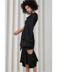 C/meo Collective - Black Interrupt Long Sleeve Dress - Lyst