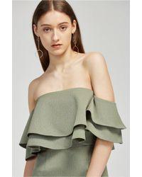 Keepsake - Green Two Fold Dress - Lyst