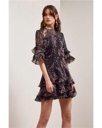 Keepsake - Black Light Up Mini Dress - Lyst