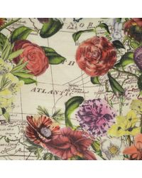 Gucci - Natural Scarf Flower Heart Beige - Lyst