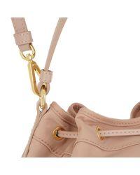 7c92909bd3df1 Moschino Logo Medium Nylon Bucket Bag Rose in Pink - Lyst