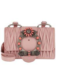 Miu Miu. Women s Pink Madras Miu Lady Shoulder Bag Calf Leather Orchidea 3c7e2e15bbecb