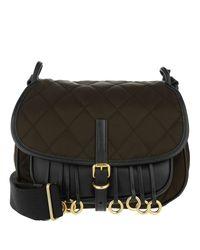 2b59092a268e Prada Corsaire Crossbody Bag Calfskin nylon Marrone nero in Brown - Lyst