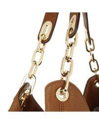 Michael Kors   Brown Fulton Lg Shoulder Tote Luggage/gold   Lyst