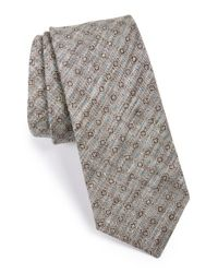 W.r.k. | Blue Geo Print Linen Tie for Men | Lyst