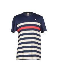 Le Coq Sportif - Blue T-shirt for Men - Lyst