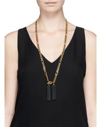 Ela Stone | Metallic 'amy' Tassel Figaro Chain Necklace | Lyst
