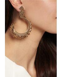 Lanvin - Metallic Sherwood Gold-Tone Clip Earrings - Lyst