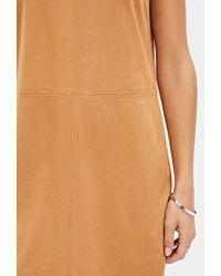Forever 21 | Brown Faux Suede Shift Dress You've Been Added To The Waitlist | Lyst