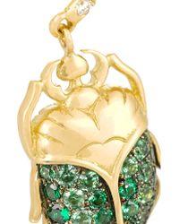 Aurelie Bidermann | Green 18-karat Gold, Tsavorite And Diamond Beetle Earrings | Lyst