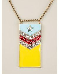 Lanvin - Metallic 'calvi' Flag Necklace - Lyst