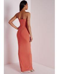d9609fce957 Lyst - Missguided Slinky Tube Dress Orange in Orange