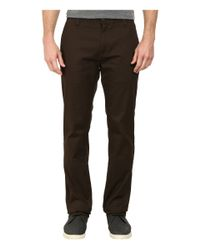 Volcom | Brown Frickin Modern Stretch Chino for Men | Lyst