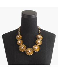 J.Crew | Metallic Zinnia Crystal Necklace | Lyst