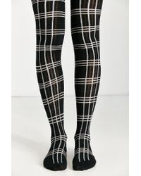 Urban Outfitters - Black Plaid Sweater Tight - Lyst