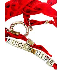 Duchess Of Malfi | Red Fuck My Life Skull Wrap Bracelet for Men | Lyst