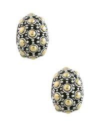 John Hardy | Metallic Jaisalmer 18k Gold & Sterling Silver Buddha Belly Earrings | Lyst