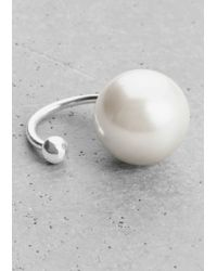 & Other Stories | Metallic Pearl Bead Earcuff | Lyst