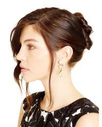 Oscar de la Renta - Metallic Light Gold Octopus Pearl Earrings - Lyst