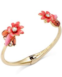 kate spade new york | Pink 12k Gold-plated Glossy Petals Cuff Bracelet | Lyst