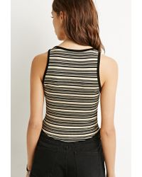 Forever 21 | Multicolor Contrast Striped Crop Top | Lyst