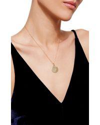 Monica Rich Kosann - Metallic 18k Yellow Gold Diamond Paw Print Disc Necklace - Lyst