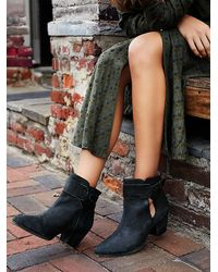 Free People - Black Belleville Ankle Boot - Lyst