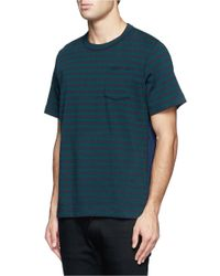 Sacai | Multicolor Thick Jersey Stripe T-shirt for Men | Lyst