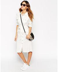 ASOS - Black Petite 70's Shirt Dress - Lyst