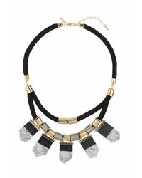 TOPSHOP - Black Semi Precious Shards Collar - Lyst