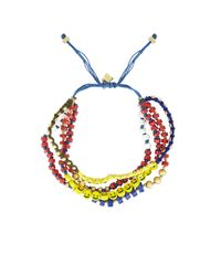 BCBGMAXAZRIA - Multicolor Multistrand Beaded Bracelet - Lyst