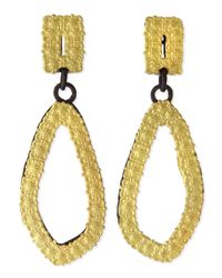 Armenta | Black Old World 18K Gold & Midnight Carved Drop Earrings | Lyst