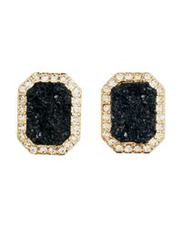 H&M | Black Earrings With Sparkly Stones | Lyst