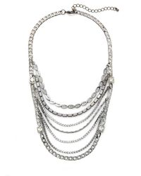 Saks Fifth Avenue - Metallic Mixed Chain Bib Necklace - Lyst