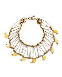 Lulu Frost | Metallic Cleo Statement Necklace | Lyst